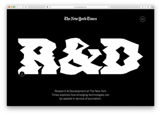 The New York Times: R&D department (2021)