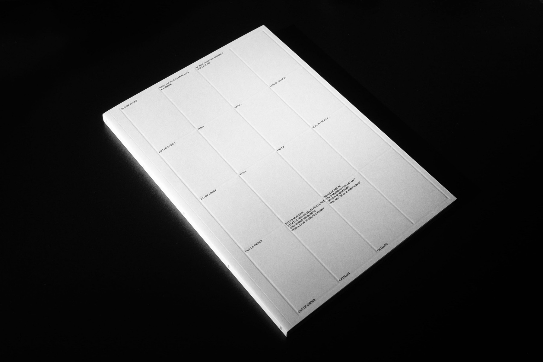 """""""Out of Order"""" Catalog for Haubrok Foundation and Neues Museum Nürnberg by Daily Dialogue"""