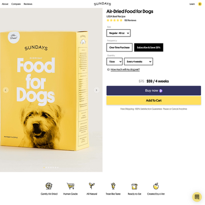 Sundays Air-Dried Food for Dogs