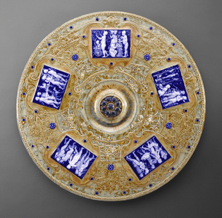 Designer: Taxile Doat (French, 1851 - 1938) Manufacturer: Sèvres Porcelain Manufactory (French, 1756-present) Plaque Culture: French Object Date: 1901 Medium: Porcelain Dimensions: h x diam: 1 1/8 x 19 1/8 inches (2.86 x 48.59 cm)
