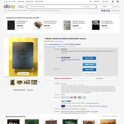 """PRADA"" Book First Edition 2009 GIANT volume 9788887029444 | eBay"