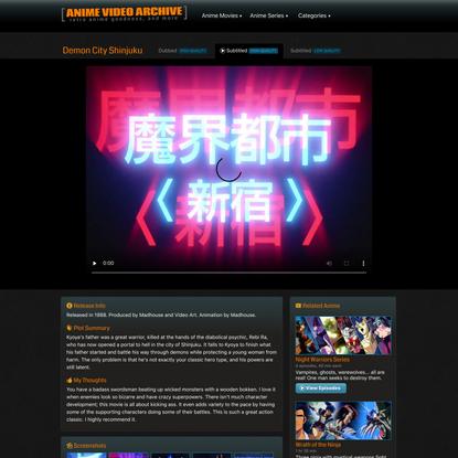 Demon City Shinjuku   Watch or download this movie subtitled