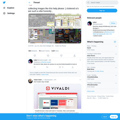 """valyri on Twitter: """"collecting images like this help please :) cluttered ui's are such a vibe honestly , pic.twitter.com/5I3..."""