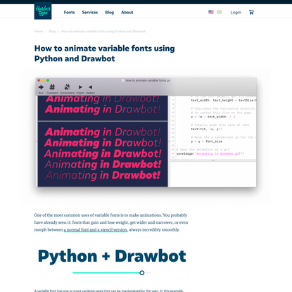 How to animate variable fonts using Python and Drawbot   Harbor Type   Fonts made in Brazil