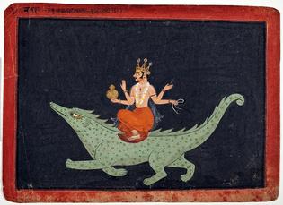 The God of Water & Sky, Varuna on his mount Makara, 1675–1700