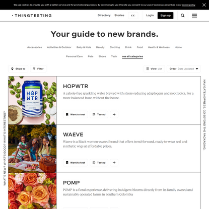 Thingtesting - Discover and learn more about modern brands.