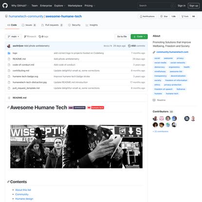 humanetech-community/awesome-humane-tech