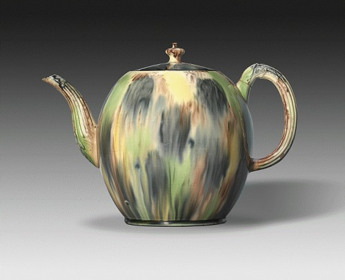 Punch Pot - Culture: English Object Date: ca. 1760 Medium: Earthenware with lead glaze Dimensions: 8 1/2 inches (21.59 cm)