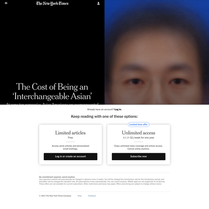 The Cost of Being an 'Interchangeable Asian'