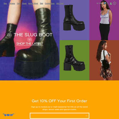 UNIF   The Official Home for UNIF Womens, Mens, Shoes and Accessories