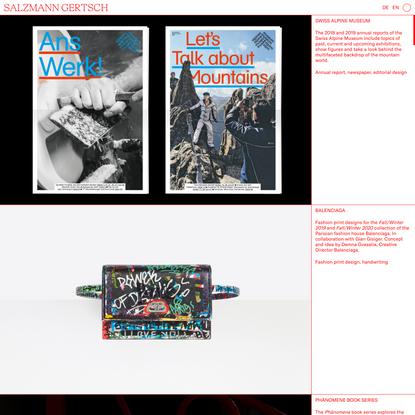 Salzmann Gertsch — Graphic Design Studio