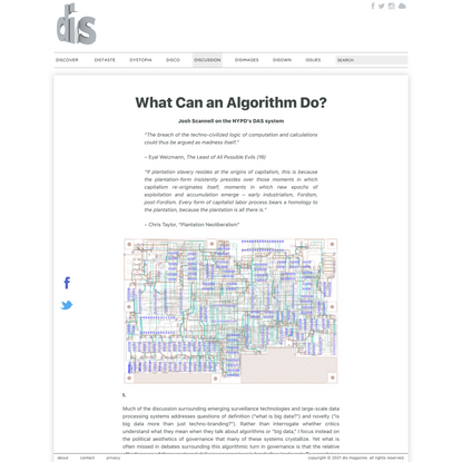 Josh Scannell | What Can an Algorithm Do?