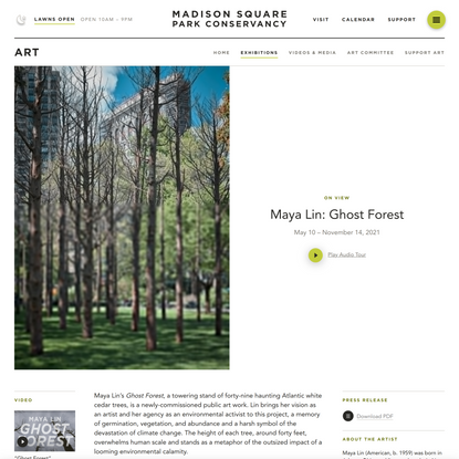 Maya Lin: Ghost Forest — Madison Square Park Conservancy
