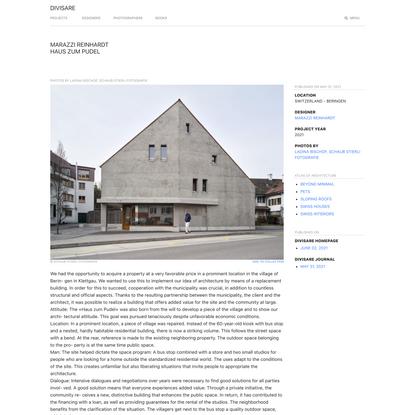 Marazzi Reinhardt, Ladina Bischof, Schaub Stierli Fotografie · Haus zum Pudel