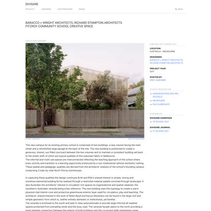 Baracco + Wright Architects, Richard Stampton Architects, Rory Gardiner · Fitzroy Community School Creative Space