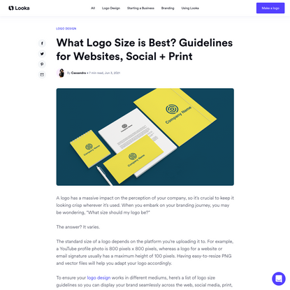 What Logo Size is Best? Guidelines for Websites, Social + Print - Looka