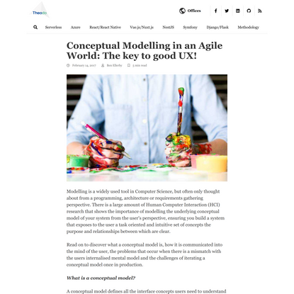 Conceptual Modelling in an Agile World: The key to good UX!