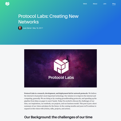 Protocol Labs: Creating New Networks