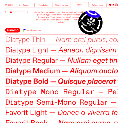 Fonts — Put your projects on the Web.