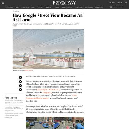 How Google Street View Became An Art Form