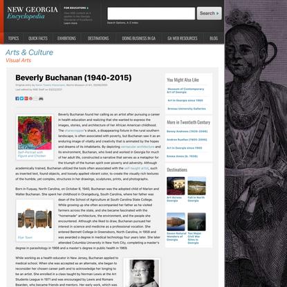 Beverly Buchanan (1940-2015)