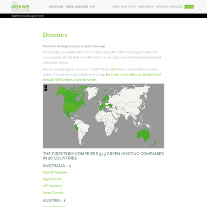 The Green Web Foundation | Directory