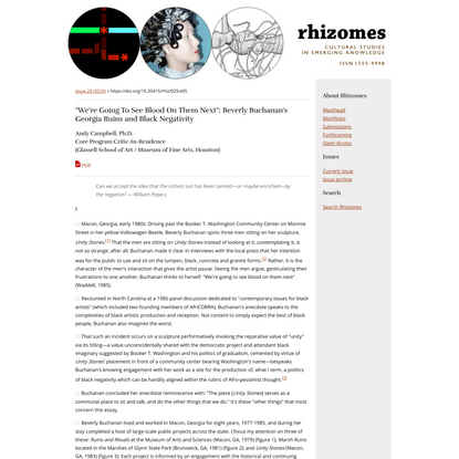 Rhizomes: issue 29: Andy Campbell