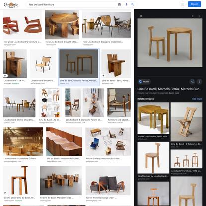 lina bo bardi furniture - Google Search