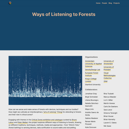 Ways of Listening to Forests – Public Data Lab