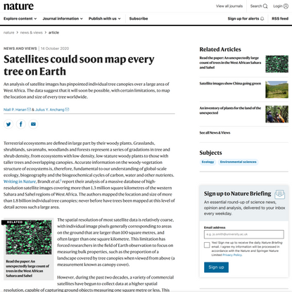 Satellites could soon map every tree on Earth