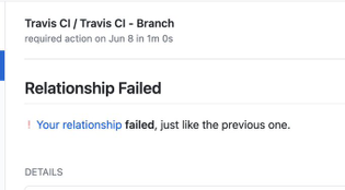 Relationship Failed