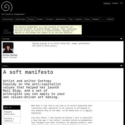 A Soft Manifesto