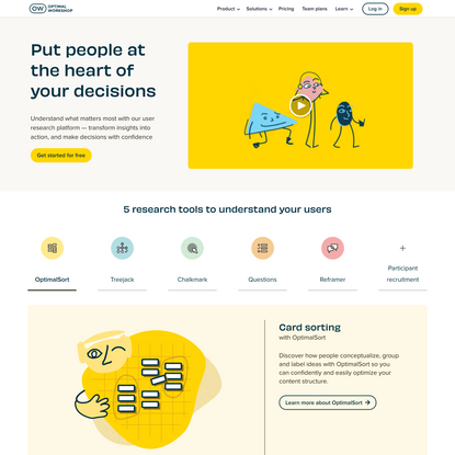 Optimal Workshop | User Experience (UX) Research Platform