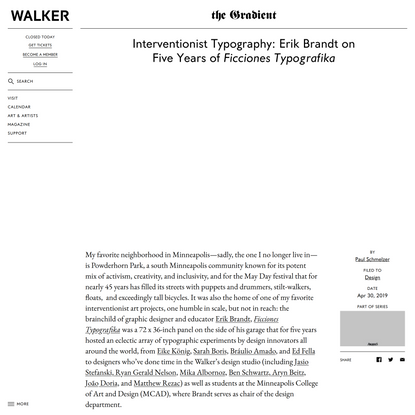Interventionist Typography: Erik Brandt on Five Years of Ficciones Typografika