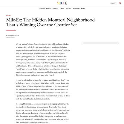 Mile-Ex: The Hidden Montreal Neighborhood That's Winning Over the Creative Set