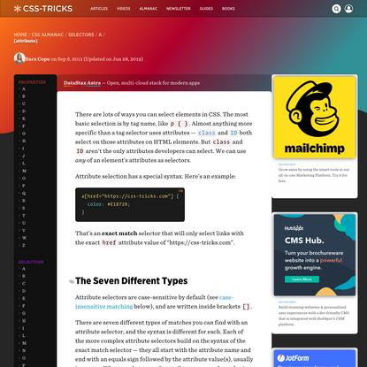 [attribute]   CSS-Tricks