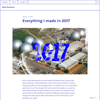 Everything I made in 2017 – Sean Suchara
