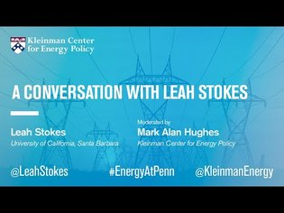 A Conversation with Leah Stokes