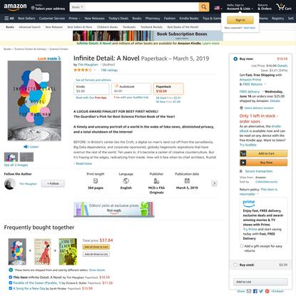 Infinite Detail: A Novel: Maughan, Tim: 9780374175412: Amazon.com: Books