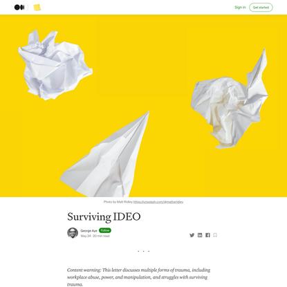Surviving IDEO