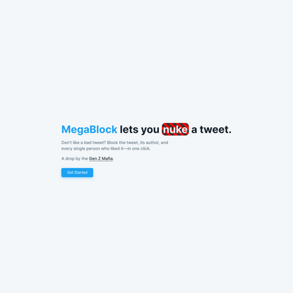 MegaBlock | Nuke tweets in one click