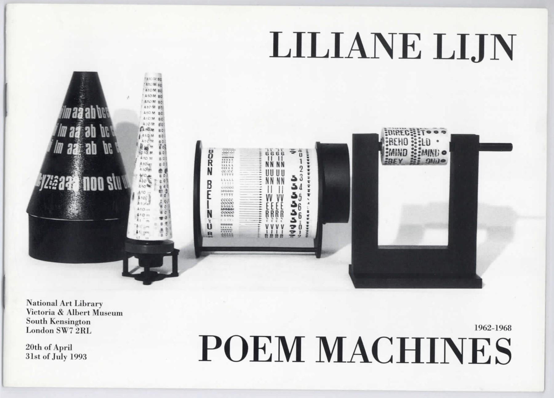 Poem Machines - Liliane Lijn