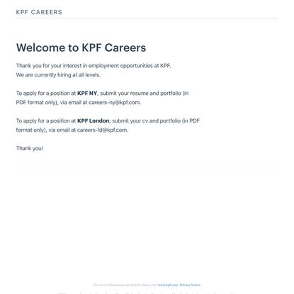 KPF Careers