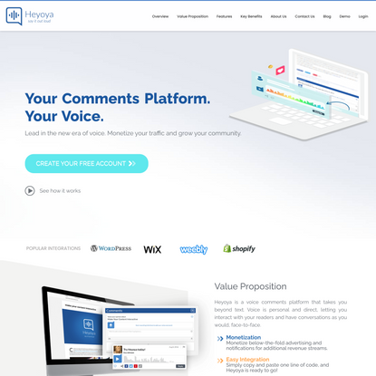 Heyoya: Voice Comments Platform for Websites and Blogs