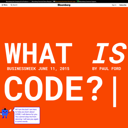 What Is Code? If You Don't Know, You Need to Read This