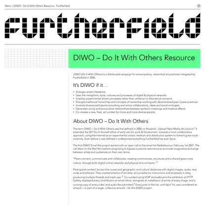 DIWO - Do It With Others Resource - Furtherfield