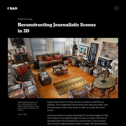 Reconstructing Journalistic Scenes in 3D