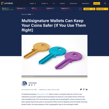 Multisig Wallets Can Keep Your Coins Safer (If You Use Them Right) - CoinDesk