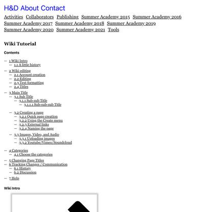 Wiki Tutorial • H&D