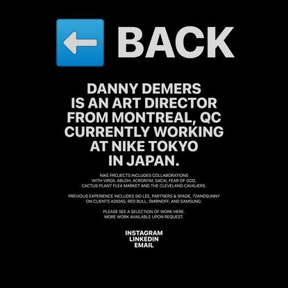 INFO — Danny Demers